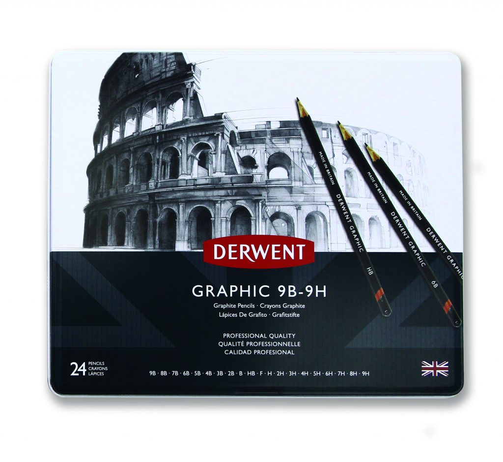 Graphic Pencils 24 tin